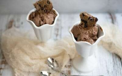 Creamy Chocolate Peanut Butter Keto Ice Cream